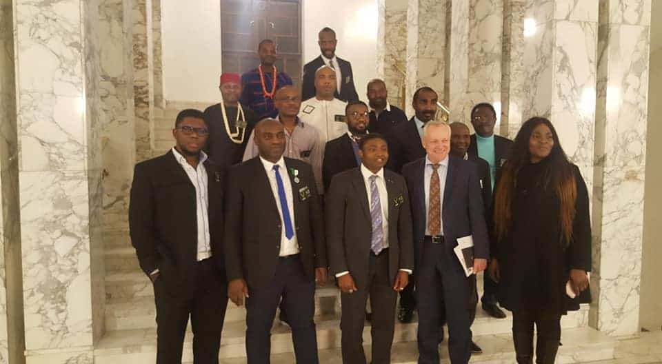 Visit of Anthony-Claret Onwutalobi to the Finnish Parliament