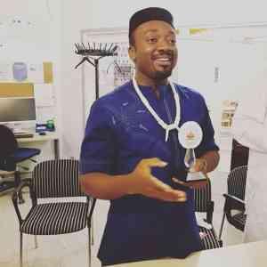 Anthony-Claret Onwutalobi received an award from ASA Europe