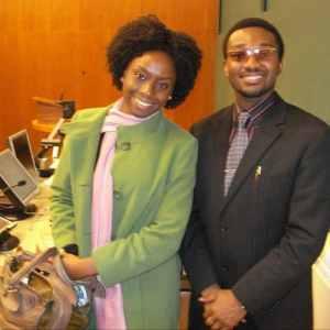 Anthony-Claret Onwutalobi with Chimamanda Adichie