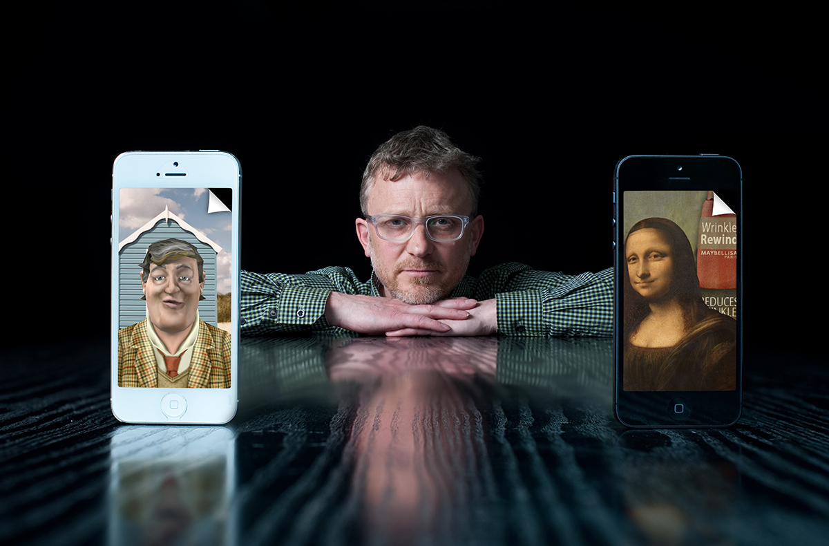 Chris Chapman with iPhones