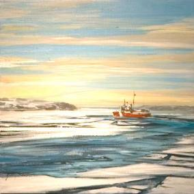 "Icebreaker | 16"" x 16"" acrylic 