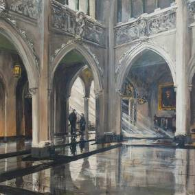 "The Foyer of the House of Commons | 30"" x 30"" acrylic on canvas"