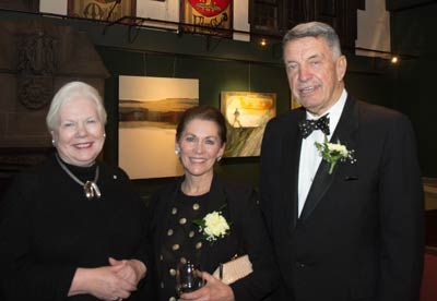 October, 2015. Arts & Letters Club's inaugural NEXT exhibition. Lt-Governor Elizabeth Dowdeswell, Lynn Bartrand and Tony who MC'd the opening.