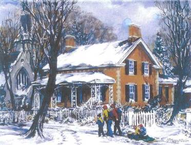 "Riverdale Farm | 16"" x 20"" oil 