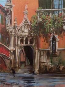 "The Gothic Water Door, Venice | 16"" x 12"" acrylic on canvas 