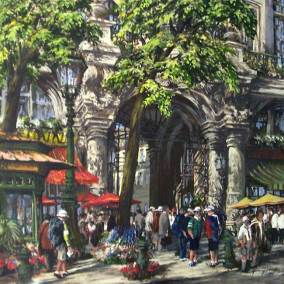 "On the Boulevards of Paris | 36"" x 36"" acrylic on canvas"