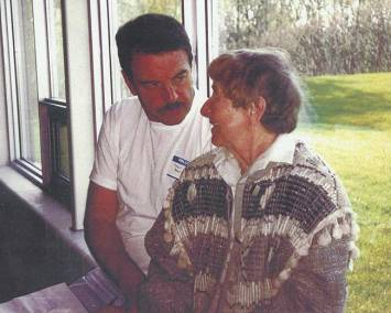 1995. At the annual general meeting of the CSPWC. Tony, president with former president, Doris McCarthy.