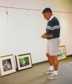 October 14, 2003. Tony jurying a show for the East Central Ontario Art Association.