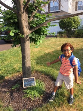 Anthony Beyer + Mason's first day of kindergarten