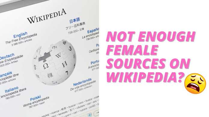 WaPo Author Claims Too Many Men Cited in Wikipedia Entries