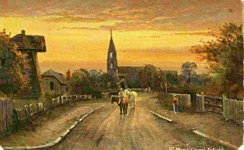 St Mary and windmillPainting