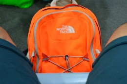 With my travel backpack. #TheGuyWithAnOrangeBackpack