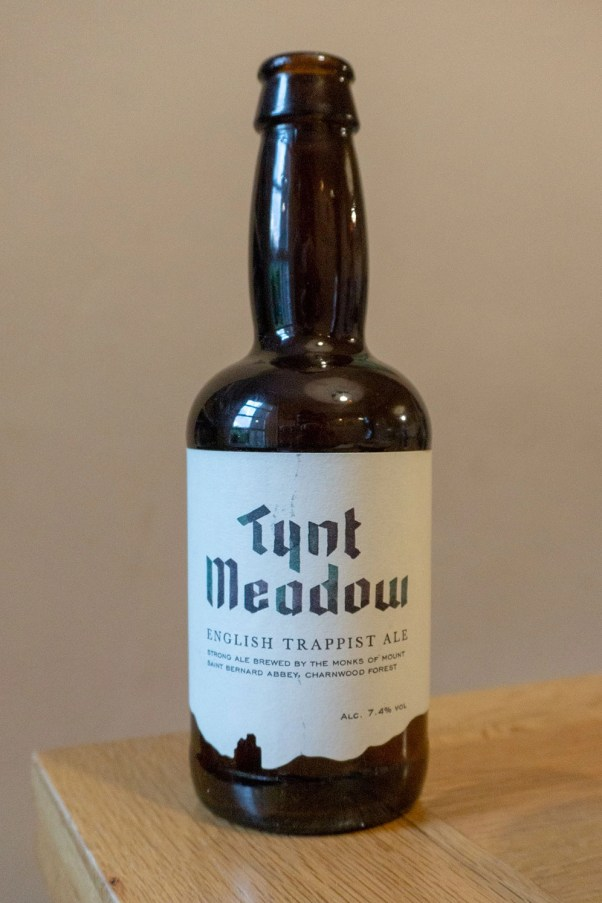 """The label for Tynt Meadow draws on a twelfth-century Cistercian script"""