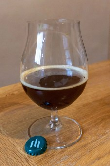 An inviting glass of Trappist beer.