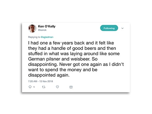 Tweet from Ken O'Kelly