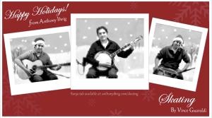 Skating by Guaraldi - Holiday Banjo Greeting Card