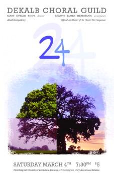 DeKalb Choral Guild - 24 Concert Poster