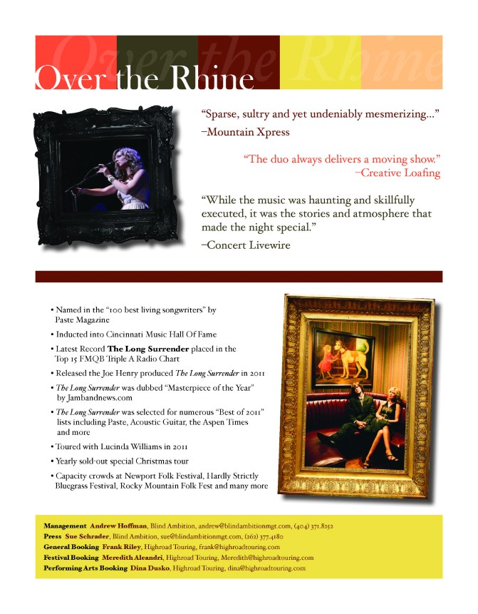 Over The Rhine Press One Sheet