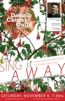 DeKalb Choral Guild - Sing it Away Concert Poster