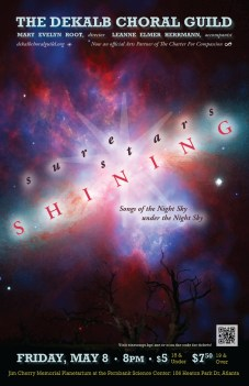 DeKalb Choral Guild - Sure Stars Shining Concert Poster