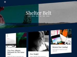 Site Building for Shelter Belt using WordPress