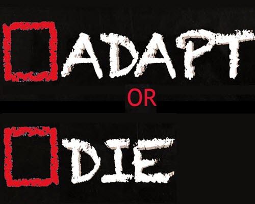 Two options, adapt or die.