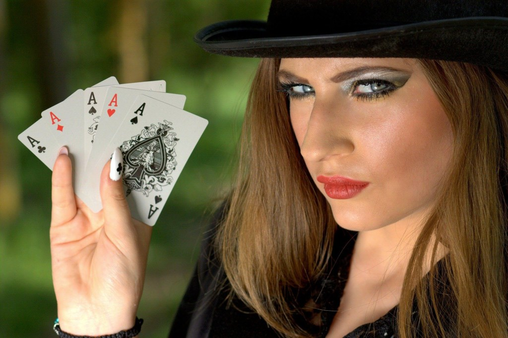 Lady with cards