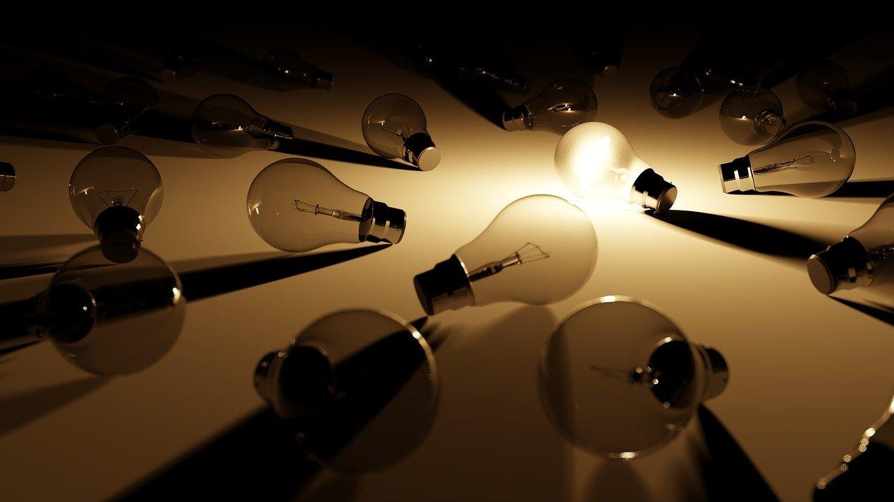 light, light bulbs, hope