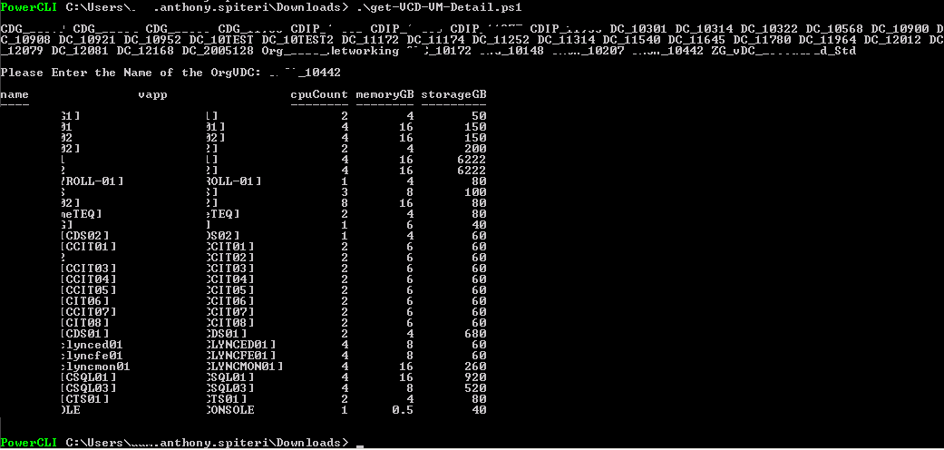 vCloud Reporting: Org and OrgvDC VM Report (PowerCLI
