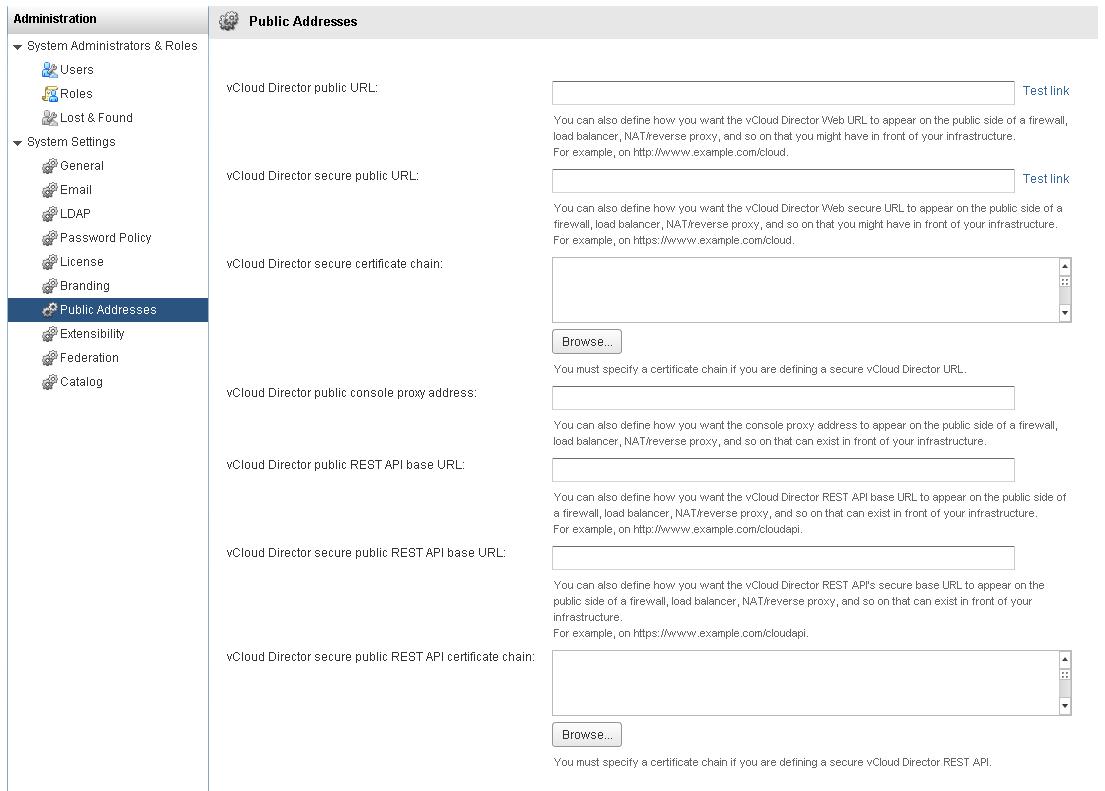 vCloud Director 5 6 3-PublicAddresses