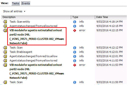 NSX Bytes: NSX-v 6 3 Host Preparation Fails with Agent VIB module