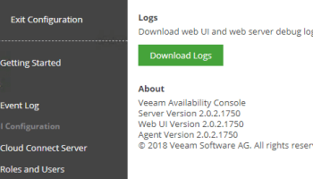 Veeam Availability Console 2 0 Update 1 Important Patch Release