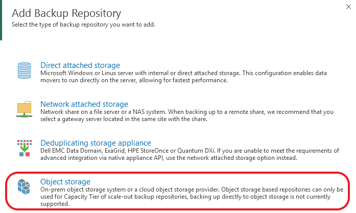 Update 4 for Service Providers - Extending Backup Repositories to