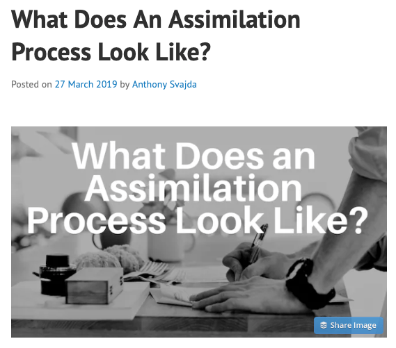 New Post in CaffeinatedTheology – What Does An Assimilation Process Look Like?