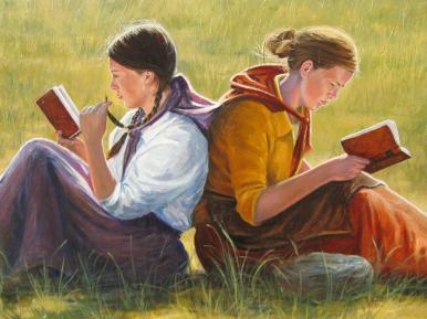 """Pioneer Girls"" 22x26 ($1,750)"