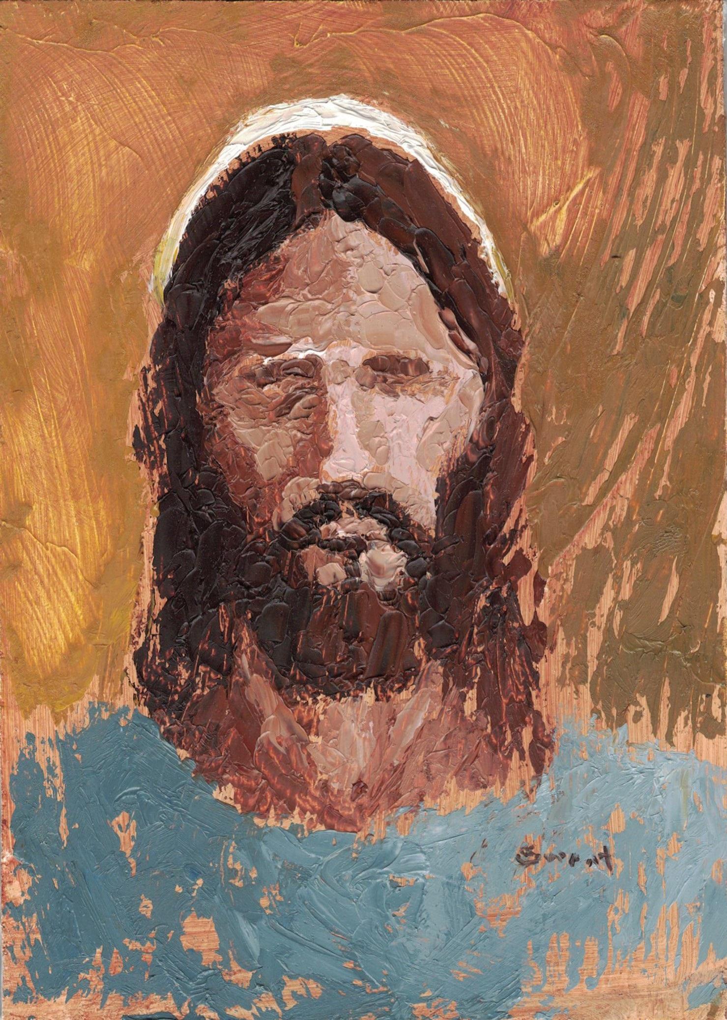 Man of Intelligence Jesus Christ painting by Anthony Sweat