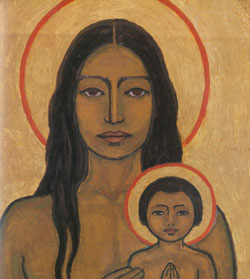 Catherine als Indianerin. Bild von Frithjof Schuon