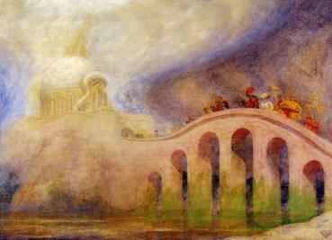Hermann Linde (1863-1923), Der Tempel aus Goethes Märchen als Vorbild des Goetheanum