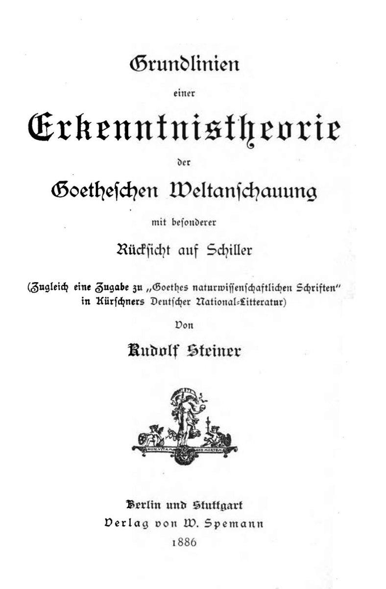 Der esoterische Schulungsweg der Anthroposophie im Frühwerk Rudolf Steiners – I