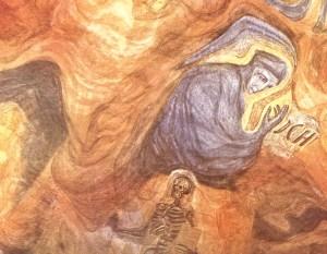 Faust-Motiv aus dem ersten Goetheanum.
