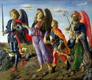 Botticini, Die drei Erzengel führen Tobias (15. Jh.)