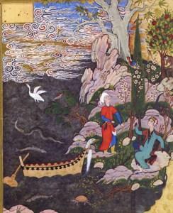 Salaman und Absal. Persische Miniatur