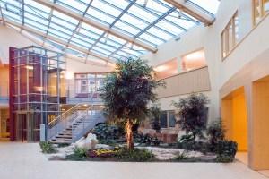 Das Foyer der Filderklinik