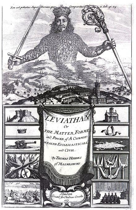 Frontispiece of Leviathan