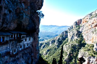 Monestary on Cliff, Greece