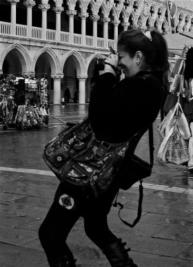 people taking photos, Venice, italy