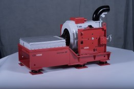 LDS V8900 industrial shaking machine. 1/3rd scale portable 3d print for display at conferences.