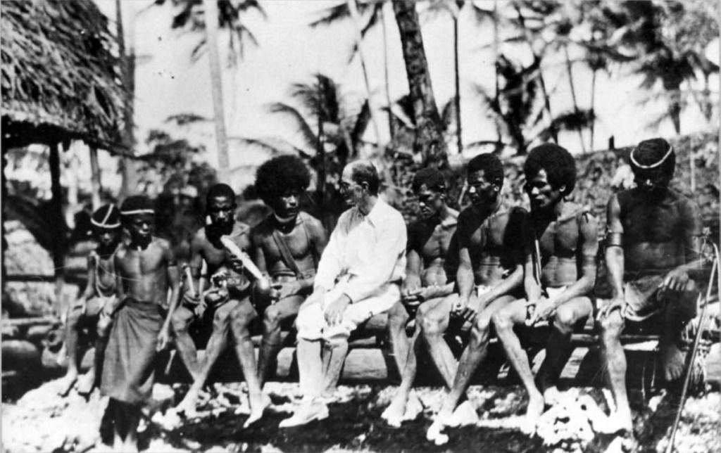 Malinowski with Trobriand Islanders