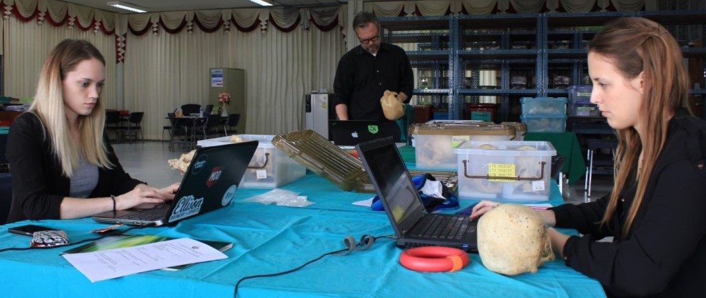 MSU graduate students work on forensics in Thailand
