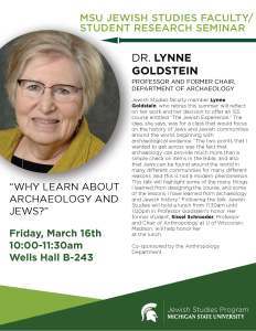 Lynne Goldstein flyer